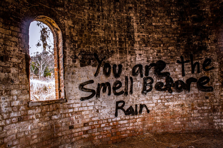 Abandon building The writing on the wall Abandon Place Abandoned Abandoned Buildings Abandoned Places Architecture Brick Wall Built Structure Graffiti Middle Of Nowhere No People Text Words In The Wild