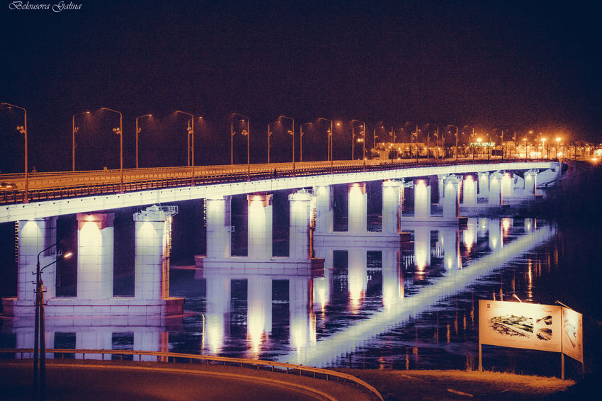 Architecture Bridge - Man Made Structure Built Structure City Connection Illuminated Long Exposure Nature Night No People Outdoors River Sky Transportation Water