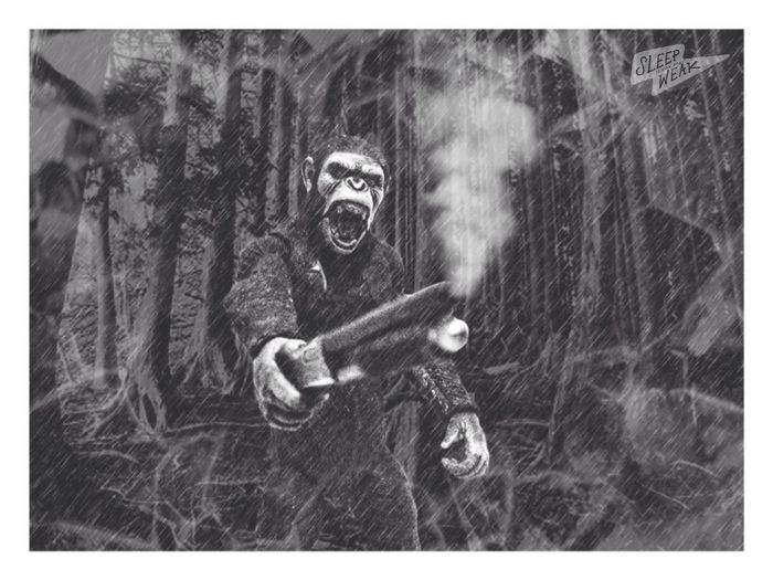 🐵🔫 Planetoftheapes Neca Toyphotography Blackandwhite Blackandwhite Photography Graphic_arts_bnw Photography Monochrome