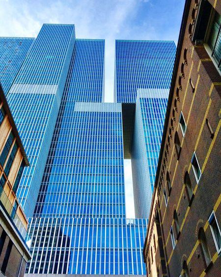 Modernn Rotterdam Derotterdam Skycraper Architecture Building Exterior Built Structure Skyscraper Modern Blue Architecture_collection