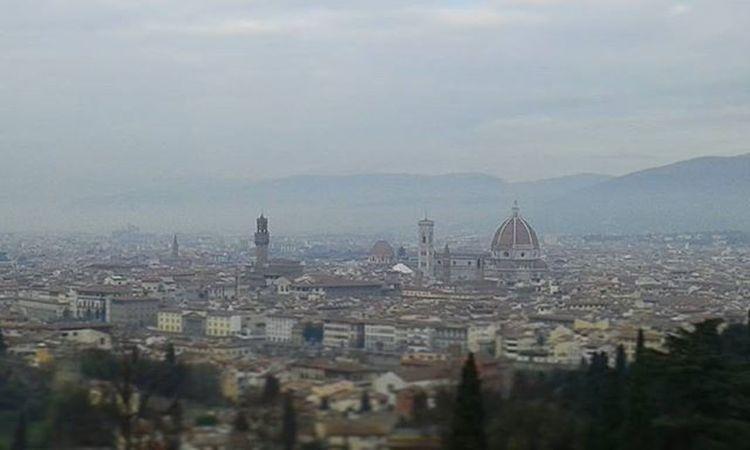 La città di Firenze vista in tutta la sua immensità Firenze Duomo PalazzoVecchio Wiew