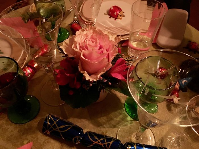 Winter Party Alcohol Celebration Champagne Close-up Day Drink Drinking Glass Flower Flower Head Food Food And Drink Fragility Freshness High Angle View Indoors  No People Party - Social Event Red Refreshment Rose - Flower Shot Glass Table Visual Feast Wine Wineglass Love Yourself