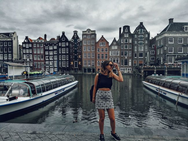 River Boat Boats Boats And Water Building Building Exterior Built Structure Amsterdam Architecture Architecture Water City Standing Full Length Photography Themes Nautical Vessel Portrait Sky Cloud - Sky