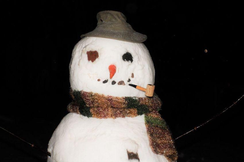 Art And Craft Christmas Fun Close-up Craft Holiday Fun Night Snowman Winter