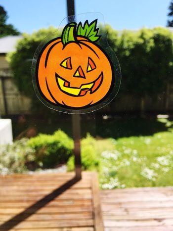 Preparing the window for Halloween Window Window Stickers Halloween Halloween_Collection Stickers Decorations