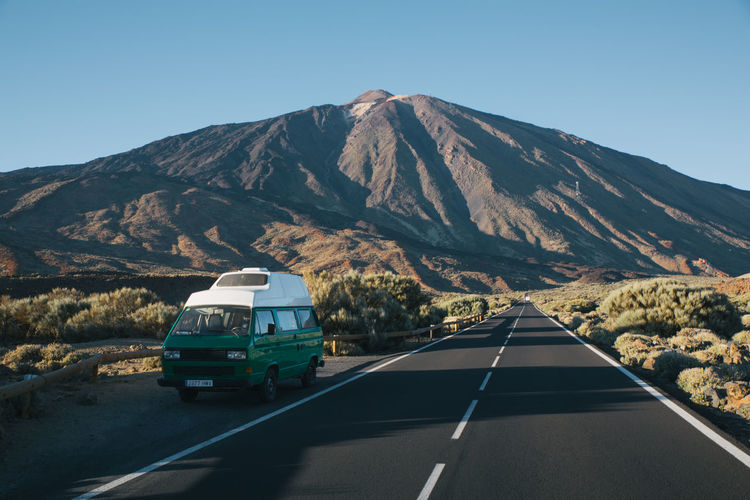 Tenerife Travel Travel Destinations Roadtrip Teide National Park VwT3 Vwbulli vanishing point Campervan Camper Vanlife Mountain Road Sky Scenics - Nature Mountain Range Outdoors Mountain Peak Beauty In Nature No People Nature Landscape Landscape_Collection Nature Nature_collection