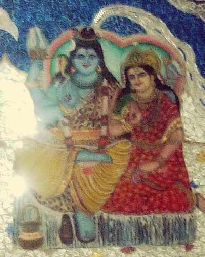 Lord Shiva Maa Parvati Mount Kailash Lord Shiva's Abode Glass Painting Wall Painting Temple Chandigarh