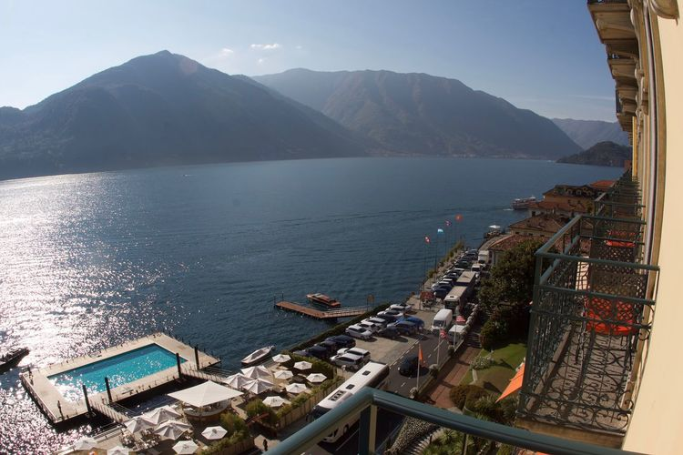 Room with a view Lake Como Italy Grand Hotel, Tremezzo Water Mountain Sea Architecture Built Structure Sky Beauty In Nature Holiday Moments