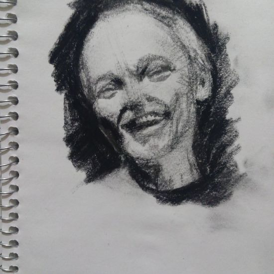 Boceteando. Smiling Portrait Graphite Contemporary Charcoal Drawing Charcoal Gallery Drawing, Painting, Artwork Draw Dibujo Artistic Expression Sketchbook Boceto Lapiz First Eyeem Photo Sketchart One Person Headshot Happiness