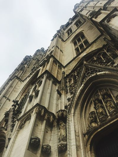 Architecture Gothic Architecture St. Michael From Where I Stand Brussels Belgium Showcase July