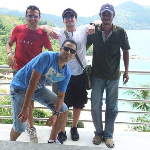 ? with Mint Taxi driver @mody_shaeri @osama_elgon صاحبناه وخلاااص Thailand Thai Phuket Fantasea beach nice shots friends