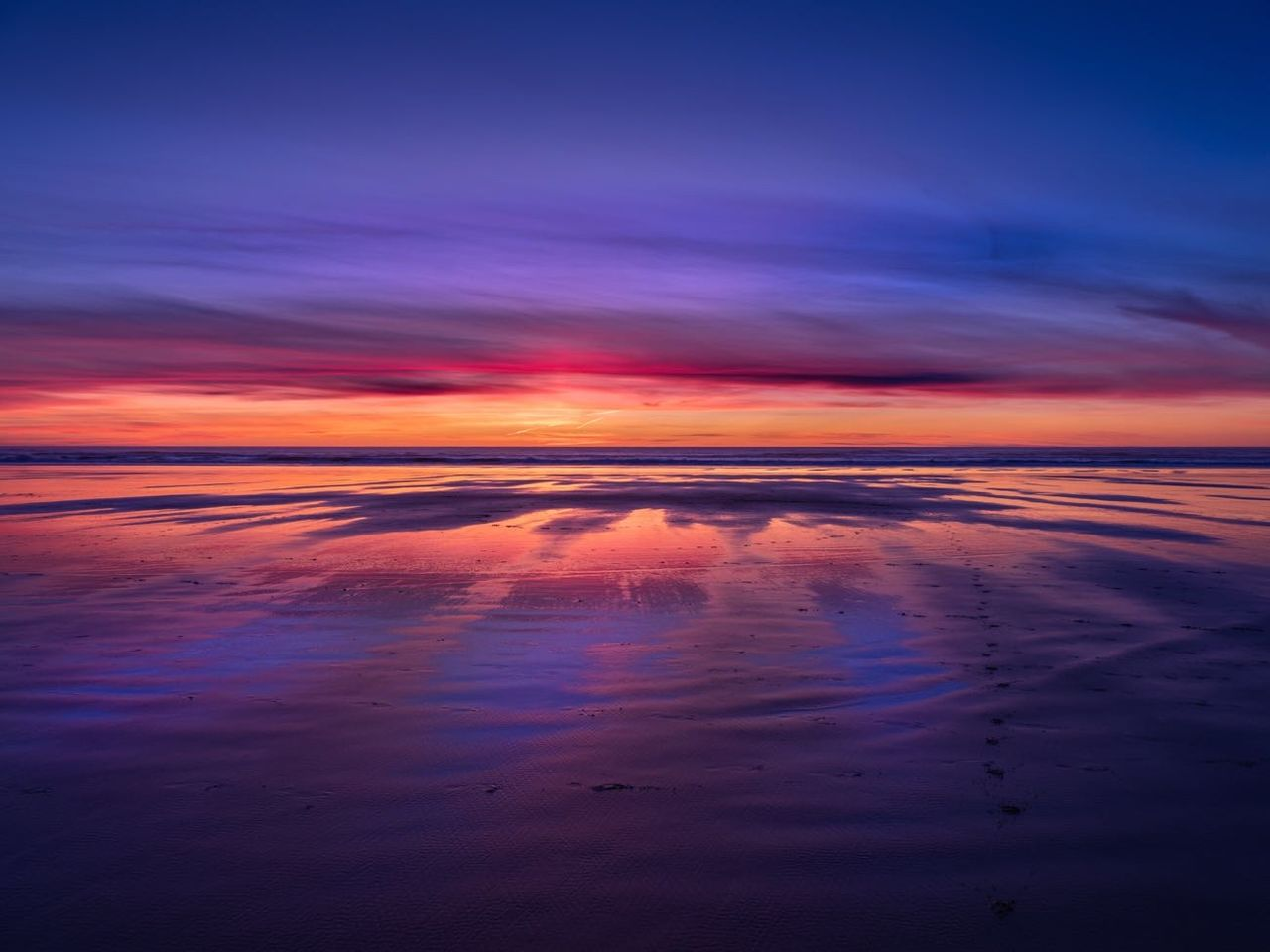 water, sky, sea, tranquility, sunset, cloud - sky, scenics - nature, reflection, beauty in nature, tranquil scene, nature, no people, beach, orange color, land, horizon over water, idyllic, dramatic sky, horizon, outdoors, purple, romantic sky