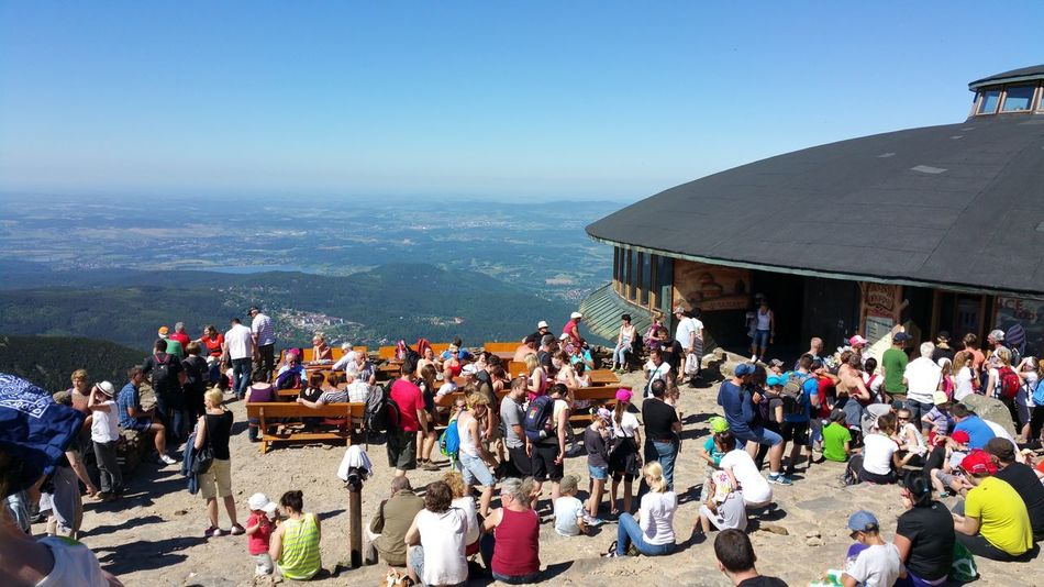 Schneekoppe Grenze Polen Tschechien , Berge Mountains Mountain Aussicht Check This Out That's Me Hanging Out Hello World Cheese! Relaxing Hanging Out Landscape Blick Berg Gebirge , ohne Filter 2015