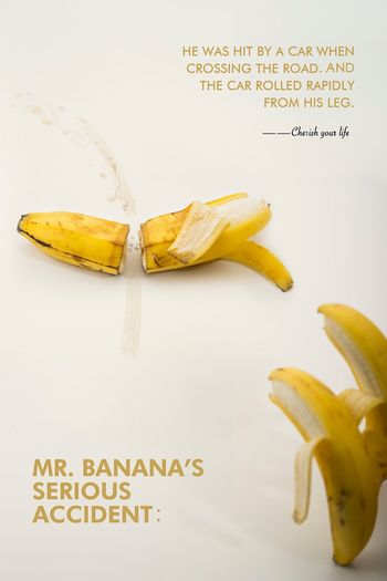 banana Food And Drink Communication Food Text Healthy Eating Banana Fruit No People Still Life Yellow Banana Peel White Background
