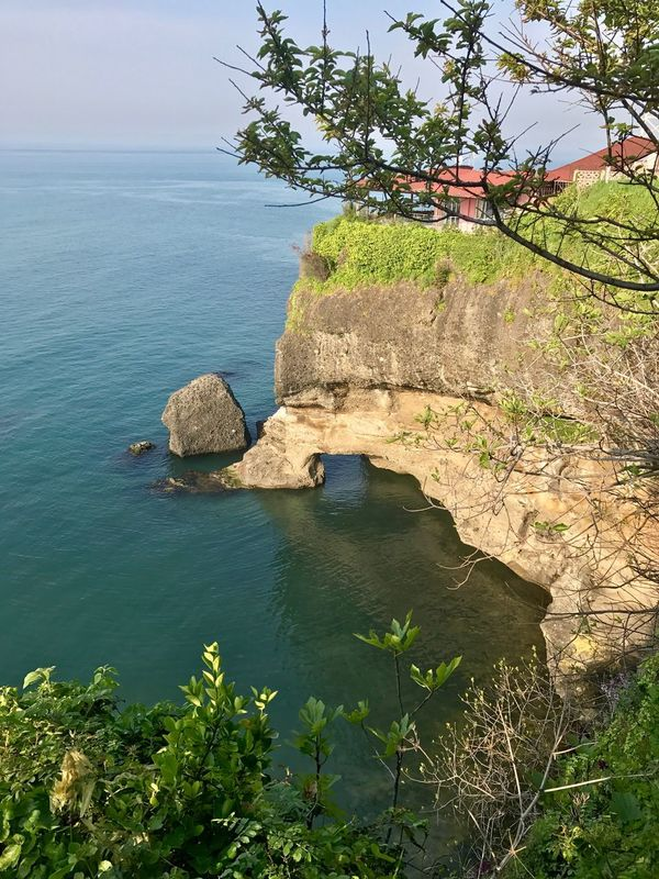 Rock - Object Rock Formation Nature Sea Water Beauty In Nature Tranquility Scenics Tranquil Scene No People Day Cliff Outdoors Sky Tree Horizon Over Water Architecture Nature Real People Women Rear View Sunlight Snow Trabzon Uzungol Turkey Landscape