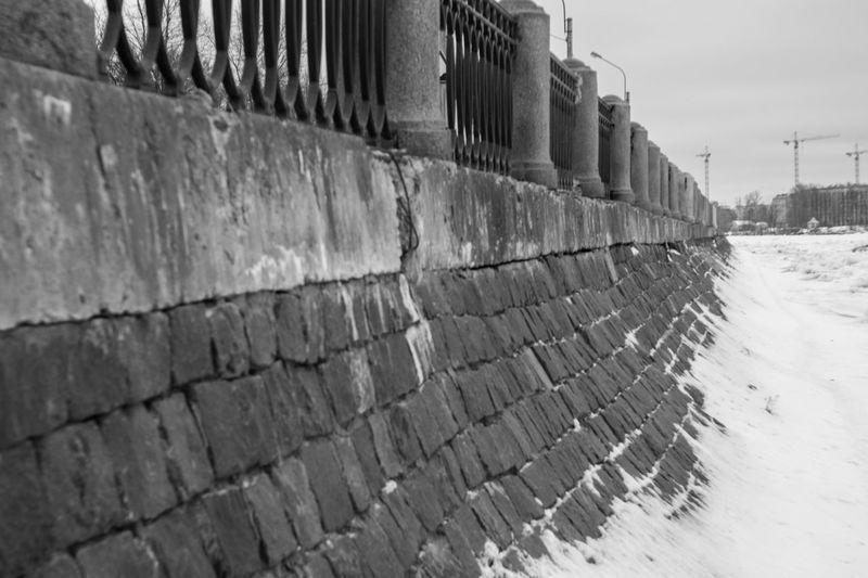 Embankment Architecture Blackandwhite Building Exterior Built Structure Day Embankment No People Outdoors Saint Petersburg Winter