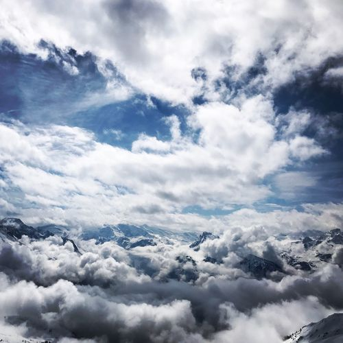 Cloud - Sky Sky Beauty In Nature Scenics - Nature Tranquil Scene Tranquility Day No People Nature White Color Cloudscape Idyllic Outdoors Winter Snow Cold Temperature Majestic