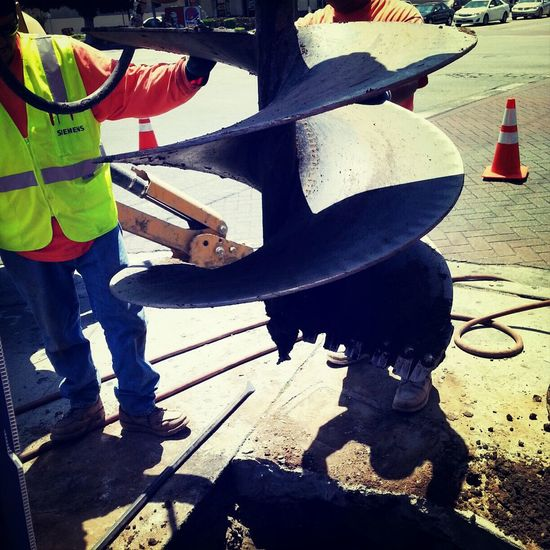Drill Auger Foundations Traffic Signals