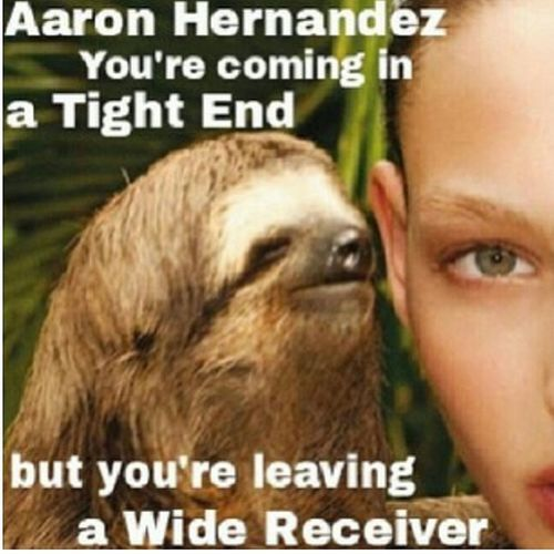 That nasty sloth... AaronHernandez Sloth SlothMeme