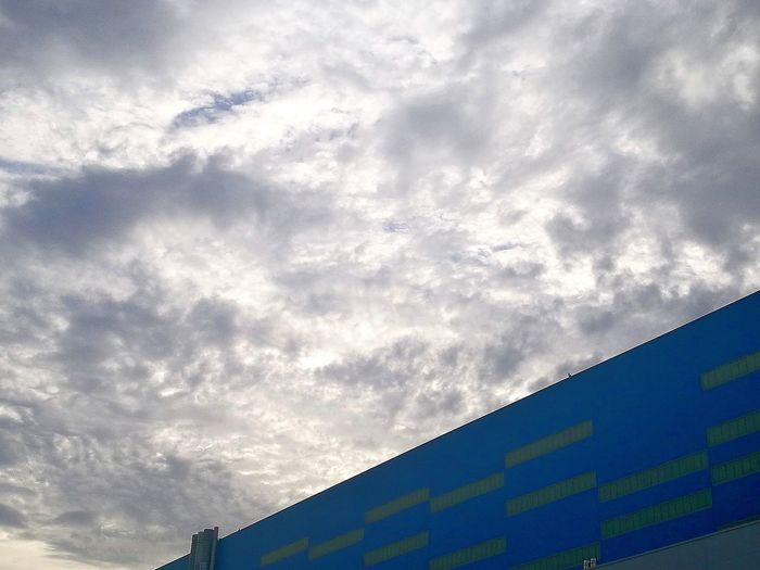 Low Angle View Nature No People Cloud - Sky Scenics OutdoorsArchitecture Abstractions In Colors Blue