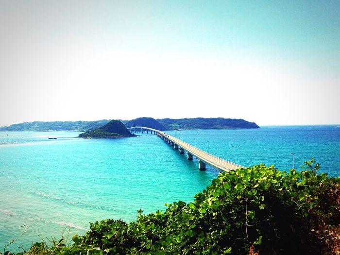 TSUNOSHIMA Sea And Sky Seaside Sea Bridge Tsunoshima Japan