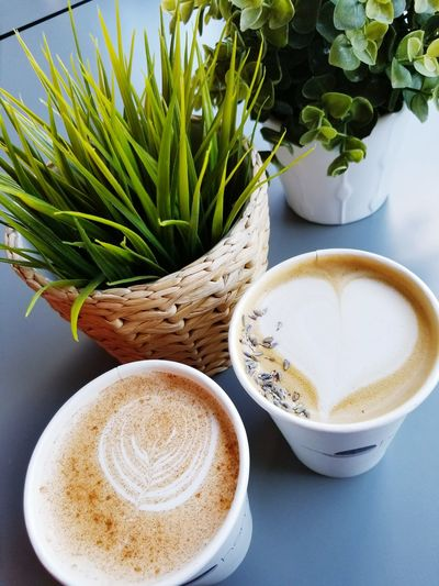 Coffee - Drink Coffee Cup Drink Food And Drink Frothy Drink Table High Angle View Latte Refreshment Indoors  No People Cappuccino Healthy Eating Freshness Close-up Day Froth Art Cofffeeshop Coffee ☕ Coffeeart San Francisco