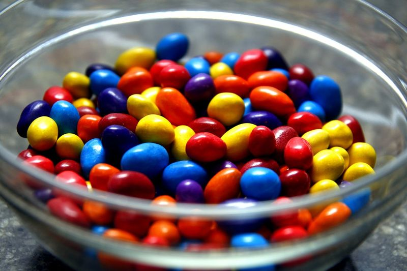 bowl of colorful chocolate candies Food Snack Time! Sweet Dessert Candy Candies! Chocolate Chocolate Candies Multi Colored Business Finance And Industry Choice Variation Sweet Food Close-up Candy Heart Candy Store
