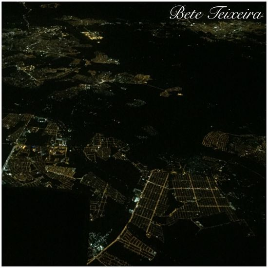 View from plane SP Aerial View Night Cityscape Flying Lights Maps Airplane Traveling Visual Creativity