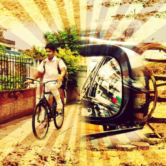 The Innovator Man Made Wonders Creative Photography Creative Shots Creative Light And Shadow Color Photography CreativePhotographer Innovative & Creative Innovating Innovation&Creative EyeEm Best Shots First Eyeem Photo First Pic Things I Love Things I See Check This Out Human Settlement Riding Cycle The Mix Up Car Side Mirror Farmers Field Farmer's Life Farmer Style Farmer With Machines Machines For Fields 43 Golden Moments