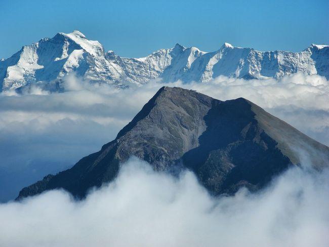 Mountain Tranquil Scene Scenics Mountain Range Beauty In Nature Snowcapped Mountain Mountain Peak Nature Clear Sky Outdoors Hiking Stockhorn Niesen Jungfrau Switzerland The Great Outdoors - 2017 EyeEm Awards
