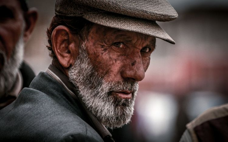 He hears the silence howling People Travel Warm Clothing Portrait Photography Old Man Grey Hair Kashmir Drass Muslim Portraits Of EyeEm EyeEm Selects Portrait Beard Men Headshot Candid Close-up Thinking Facial Hair Mustache It's About The Journey