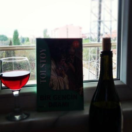 Book Kitap Wine şarap Kirmizisarap Doluca Kadeh Hayat Tolstoy Birgencindrami Bandirma