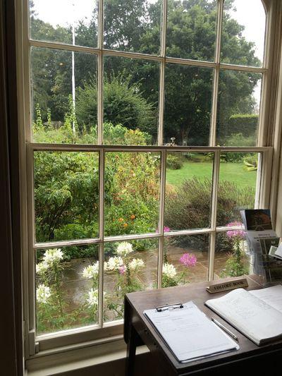 Jane Austen's House Window Looking Through Window Window Frame Jane Austen Jane Austen House Garden english English Garden Novelist