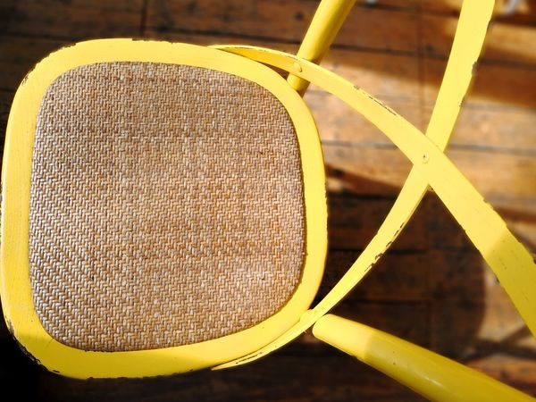Wicker chair yellow Wicker Chair Wicker Work Yellow Color Close-up Geometric Shape Triangle Shape Shape Hexagon Wooden ArtWork