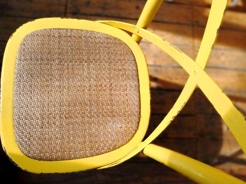 Wicker chair yellow Wicker Chair Wicker Work Yellow Color Close-up Geometric Shape Triangle Shape Shape Hexagon Wooden ArtWork