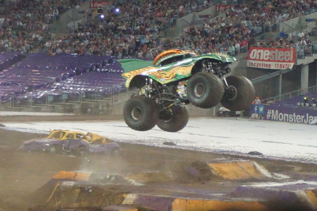 Monster Trucks City Day Land Vehicle Men Outdoors People Real People Transportation