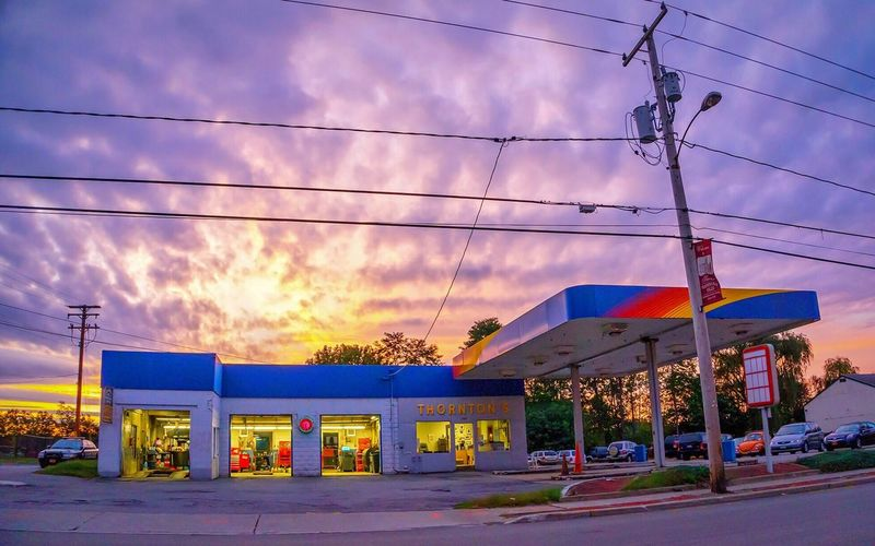 Wappingers Falls Gas Station Sunset Sunoco