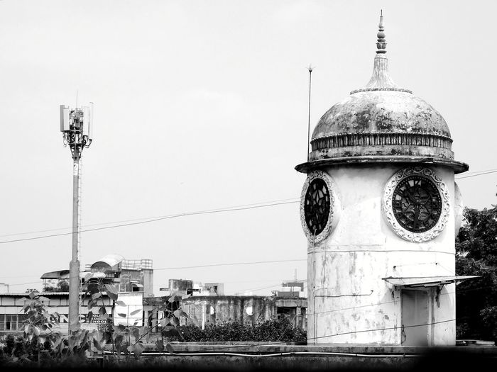 Ahmedabad Maninagar India Streetphotography City Dome Sky Architecture Building Exterior Built Structure Historic Office Building Communications Tower History Civilization Historic Building Spire  Politics And Government Clear Sky Amphitheater Radar Tower Tall - High Clock Tower Antenna - Aerial Castle