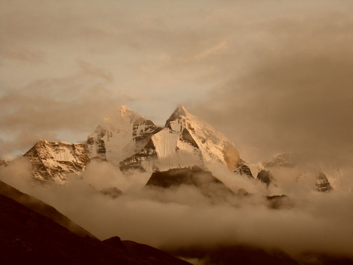 Evening view of the mountains at Pheriche, Nepal Cloud - Sky Landscape Majestic Mountain Nepal Snowcapped Mountain