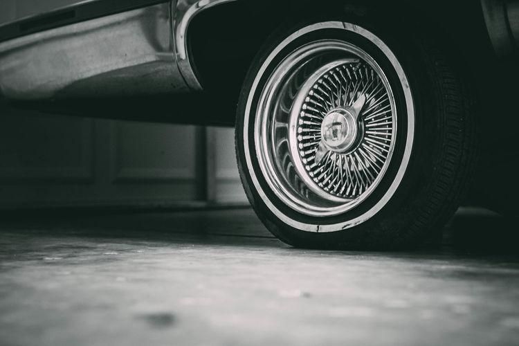 Black & White Lowrider Black And White Blackandwhite Blackandwhite Photography Close-up D'Sunne Gniese Day Evanscsmith Indoors  Lowriders No People Photographerinlasvegas Tire Transportation Wheels