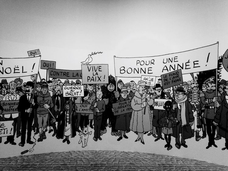 Protest Text Full Length Large Group Of People Outdoors Conflict Archival Communication Real People Day Adults Only People Crowd Adult exposition Hergé