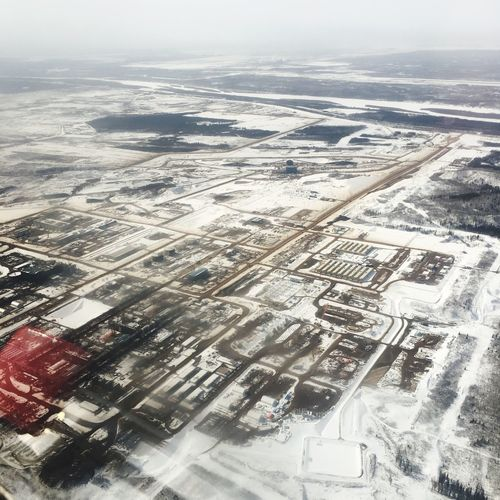 Fortmcmurray Oilsands IPhoneography From Airplane Window From An Airplane Window View From The Airplane Window