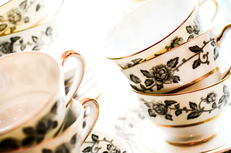 Close-Up Of Tea Cups