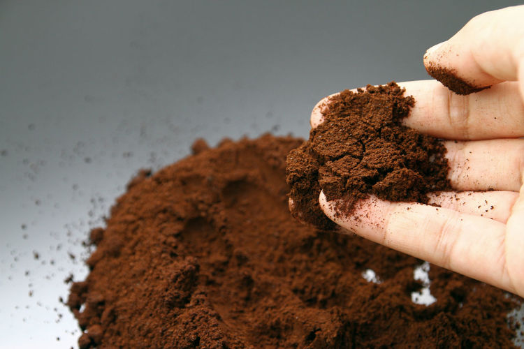Coffee powder as wallpaper Art Caffiene Coffee Coffee Powder Conceptual Photography  Dirty Hand Fine Art Photography Human Hand Love Nature Shape Soil
