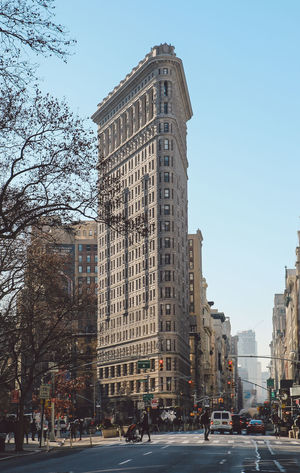 Architecture Building Exterior City Clock Cold Day Flatiron Building Manhattan Morning New York New York City No People NYC Outdoors Sky Sunrise Travel Travel Destinations Tree Winter