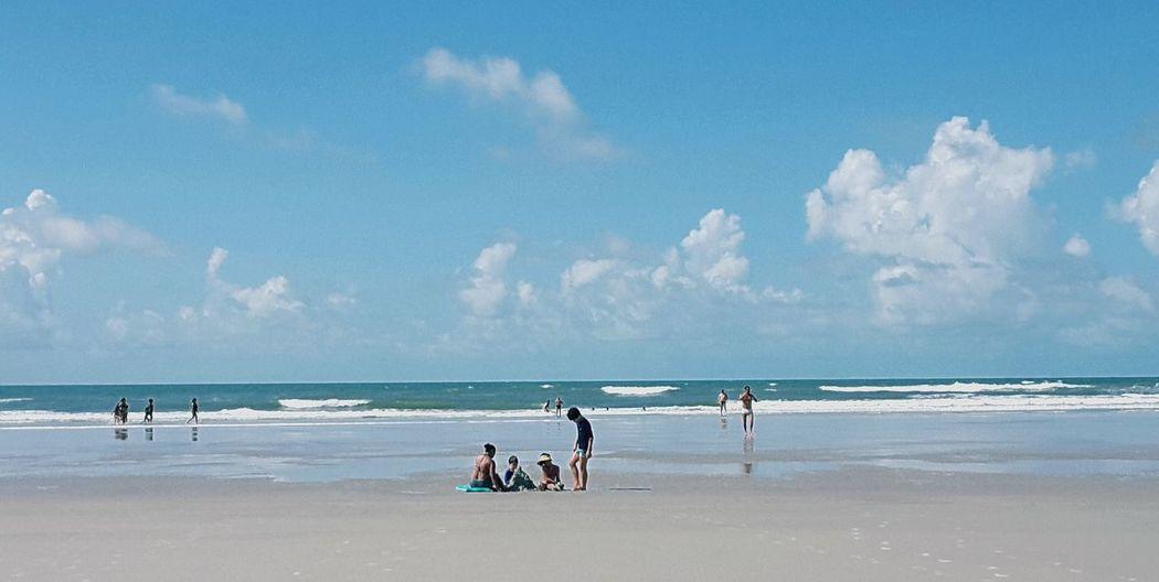 City of Salinópolis, Atalaia Beach, State of Pará, Amazon, Brazil. Beach Sea Sand Horizon Over Water Sky Water Blue