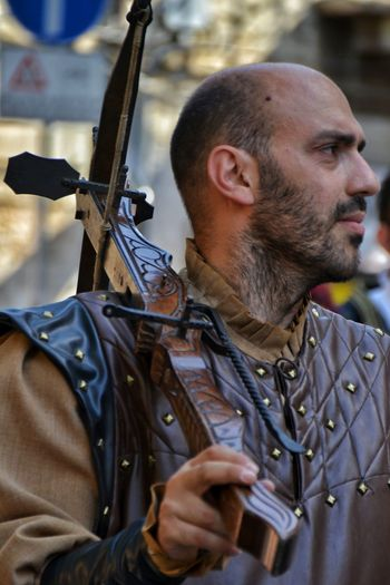 Only Men Arts Culture And Entertainment Weapon Headshot Portrait Close-up War Day Abruzzo Festival The Week On EyeEm Medieval Sulmona Giostra Cavalleresca Sulmona Medieval Festival Historical Place Historic