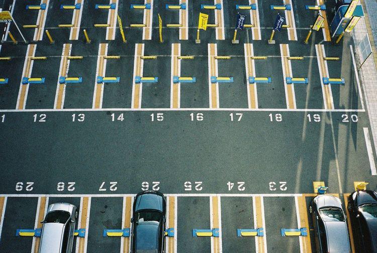 Himeji Japan Streetphotography Contax T3 35mm Film Film Travel Photography Parking Urbanphotography
