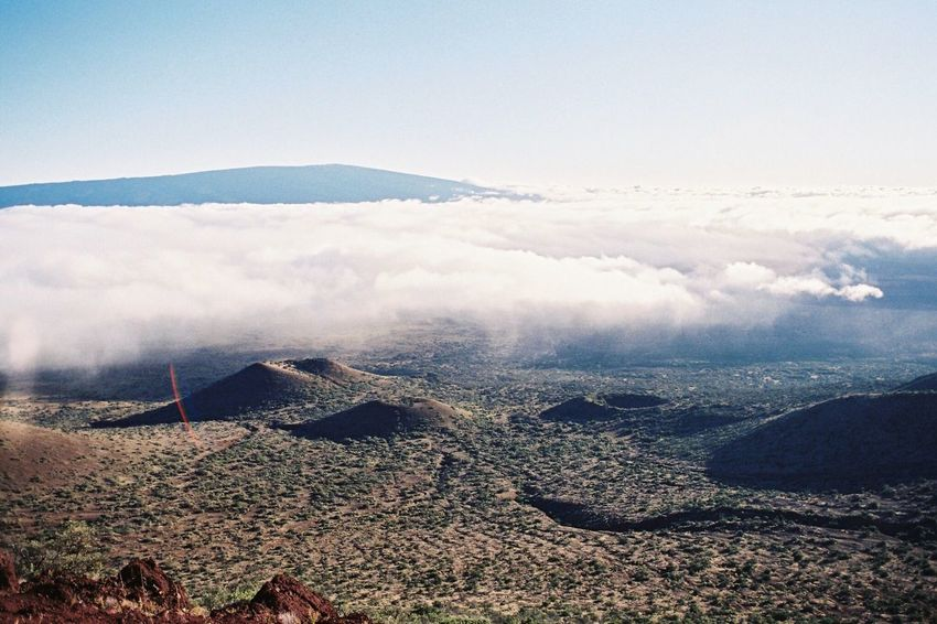 volcanoes. Beauty In Nature Mountain Nature Tranquil Scene Tranquility Scenics Landscape Outdoors No People Day Physical Geography Mountain Range Sky Hawaii Big Island Hawaii Mauna Kea Volcano Analogue Photography Film EyeEmNewHere Filmisnotdead Minolta Film Photography Vintage