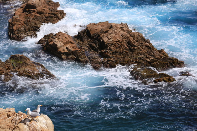 Beauty In Nature Blue Blue Wave Day Idyllic Nature No People Non-urban Scene Outdoors Rock Rock - Object Rock Formation Scenics Sea And Sky Seaside Summer Summer Views The KIOMI Collection Tranquil Scene Tranquility Water
